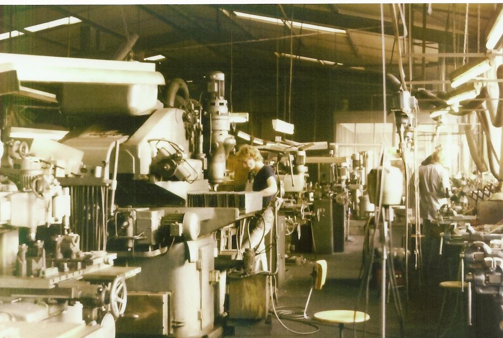 Historische Aufnahme der Produktion bei Droigk Formenbau